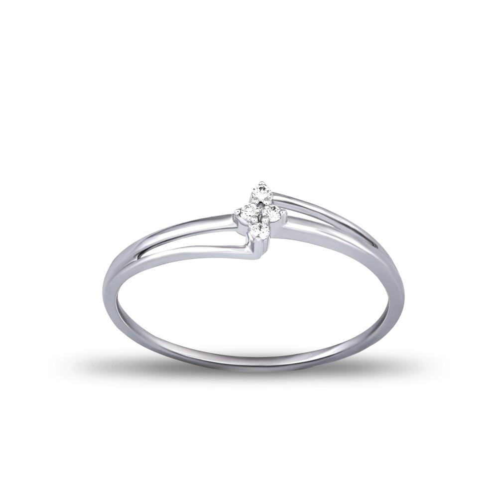 EVERYDAY DIAMONDS ED31 LADYS 18K WHITE GOLD RING