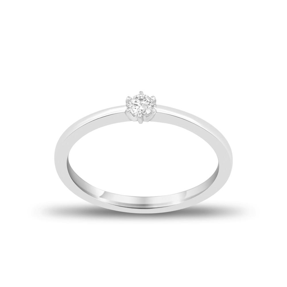 EVERYDAY DIAMONDS ED36 LADYS 18K WHITE GOLD RING