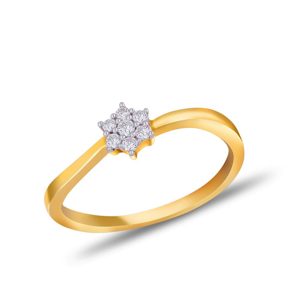EVERYDAY DIAMONDS ED42 LADYS 18K YELLOW GOLD RING