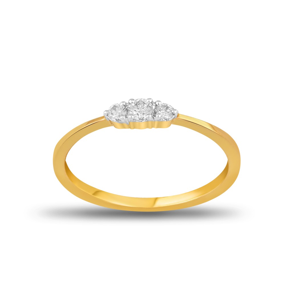 EVERYDAY DIAMONDS ED51 LADYS 18K YELLOW GOLD RING