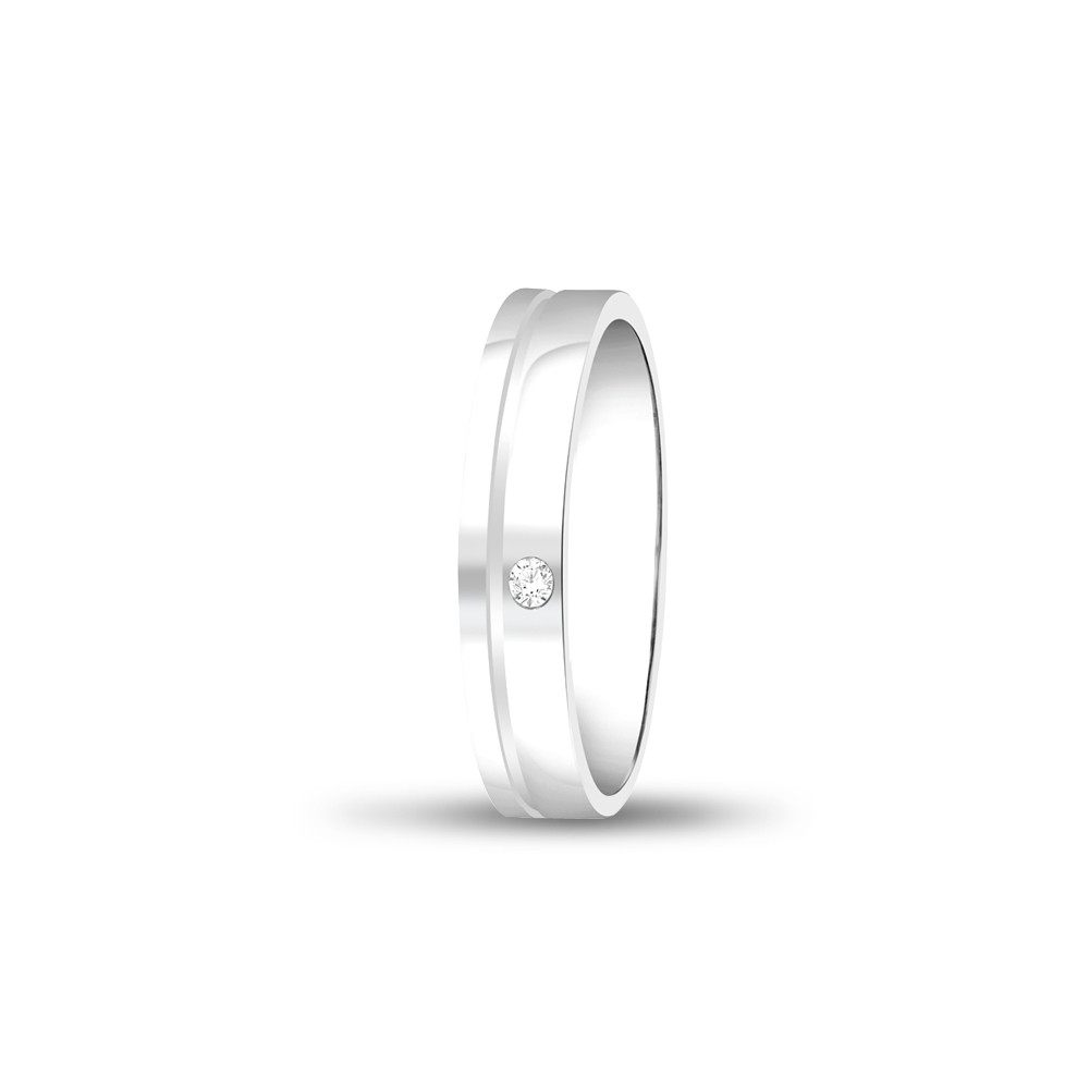 Forever Wedding Band Diamond Ladys 18k White Gold Ring Fbk1001
