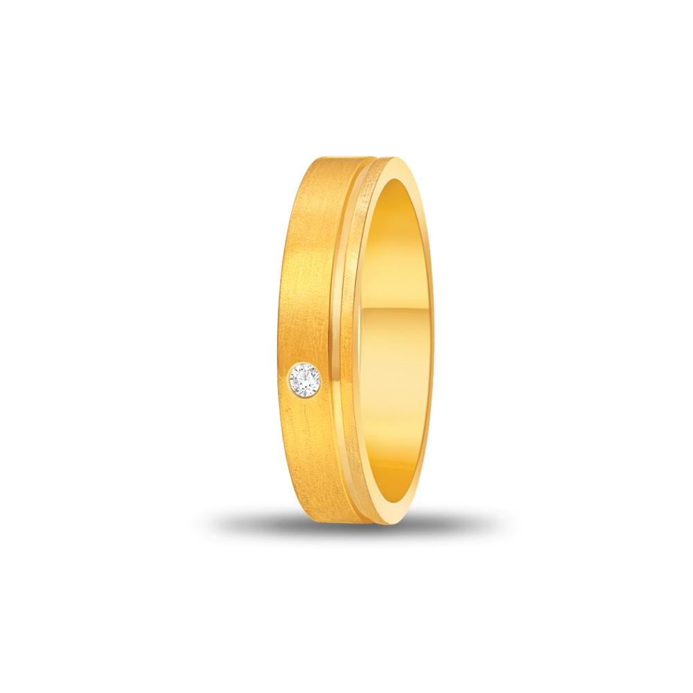 FOREVER WEDDING BAND DIAMOND LADYS 18K YELLOW GOLD RING FBK1004