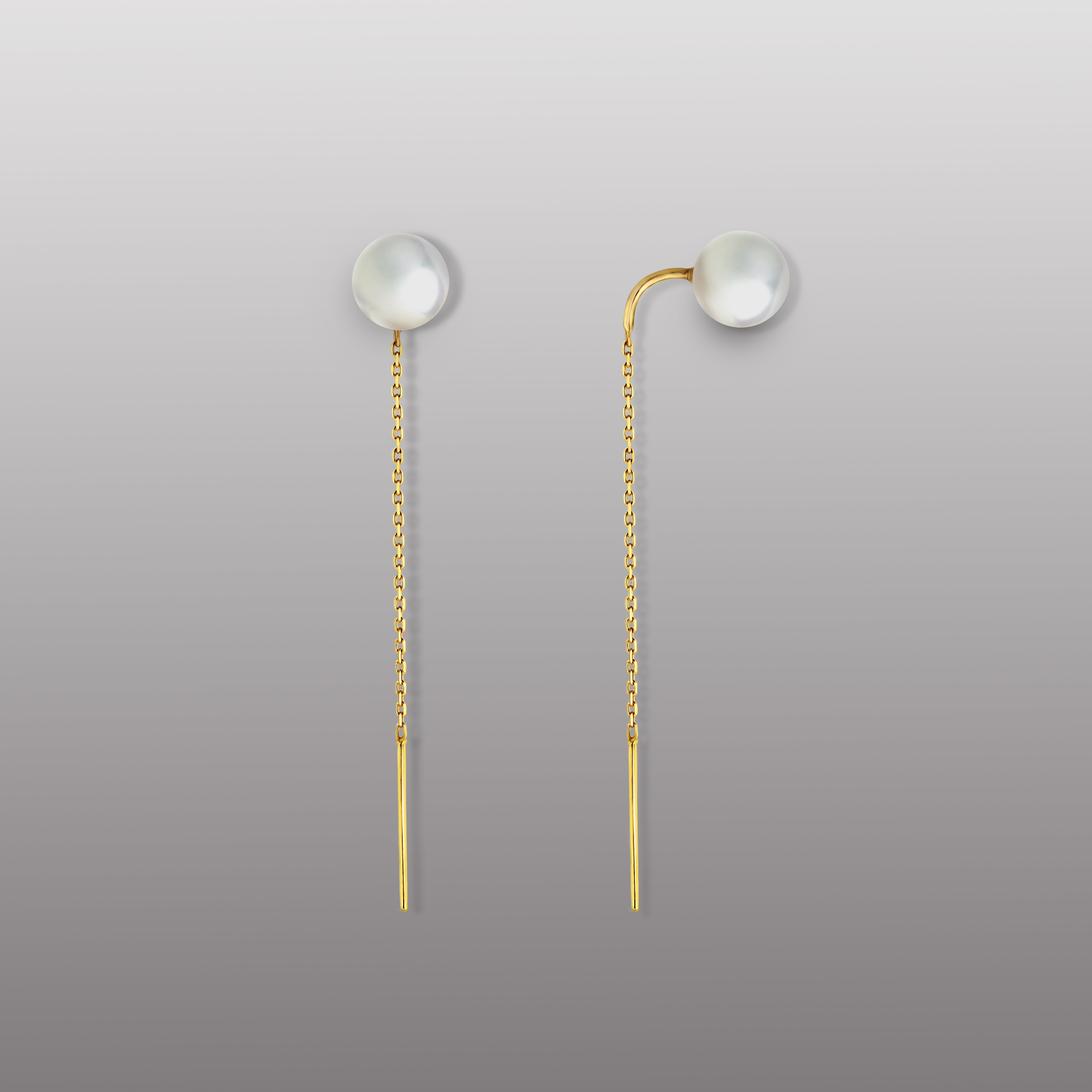 18K YELLOW GOLD EARRING WITH PEARL-RD1902E