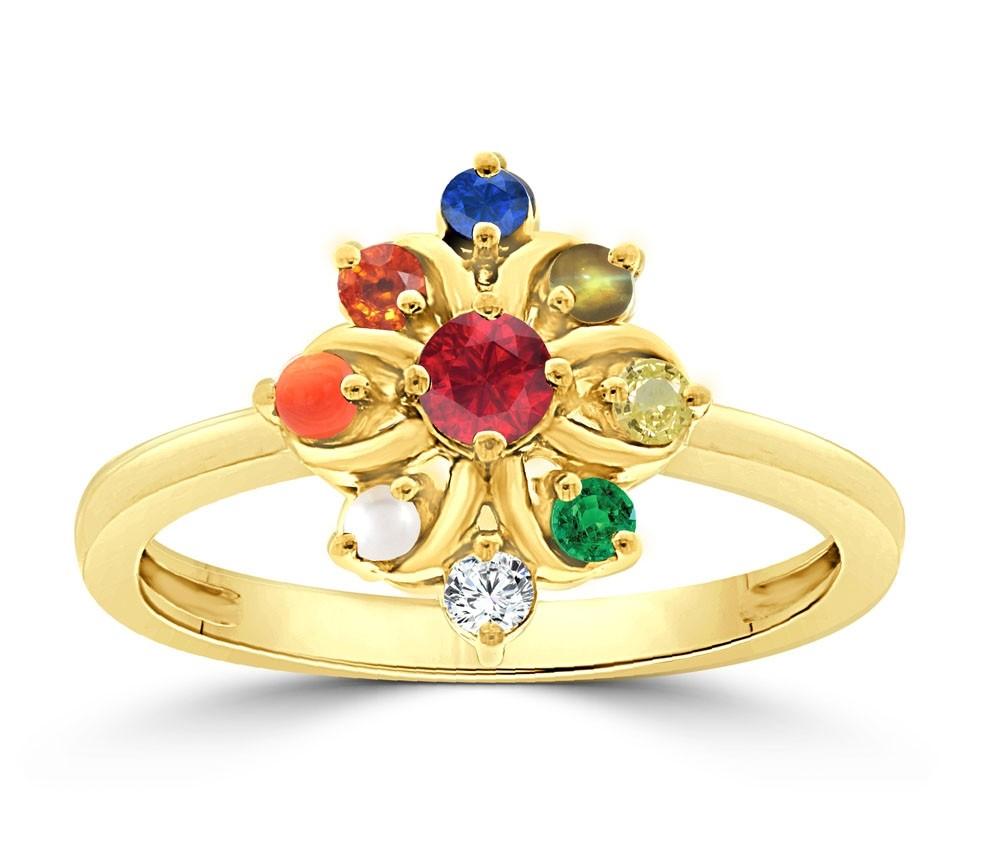 NAVARATNA  RRNV244 -22K DIAMOND LADYS RING