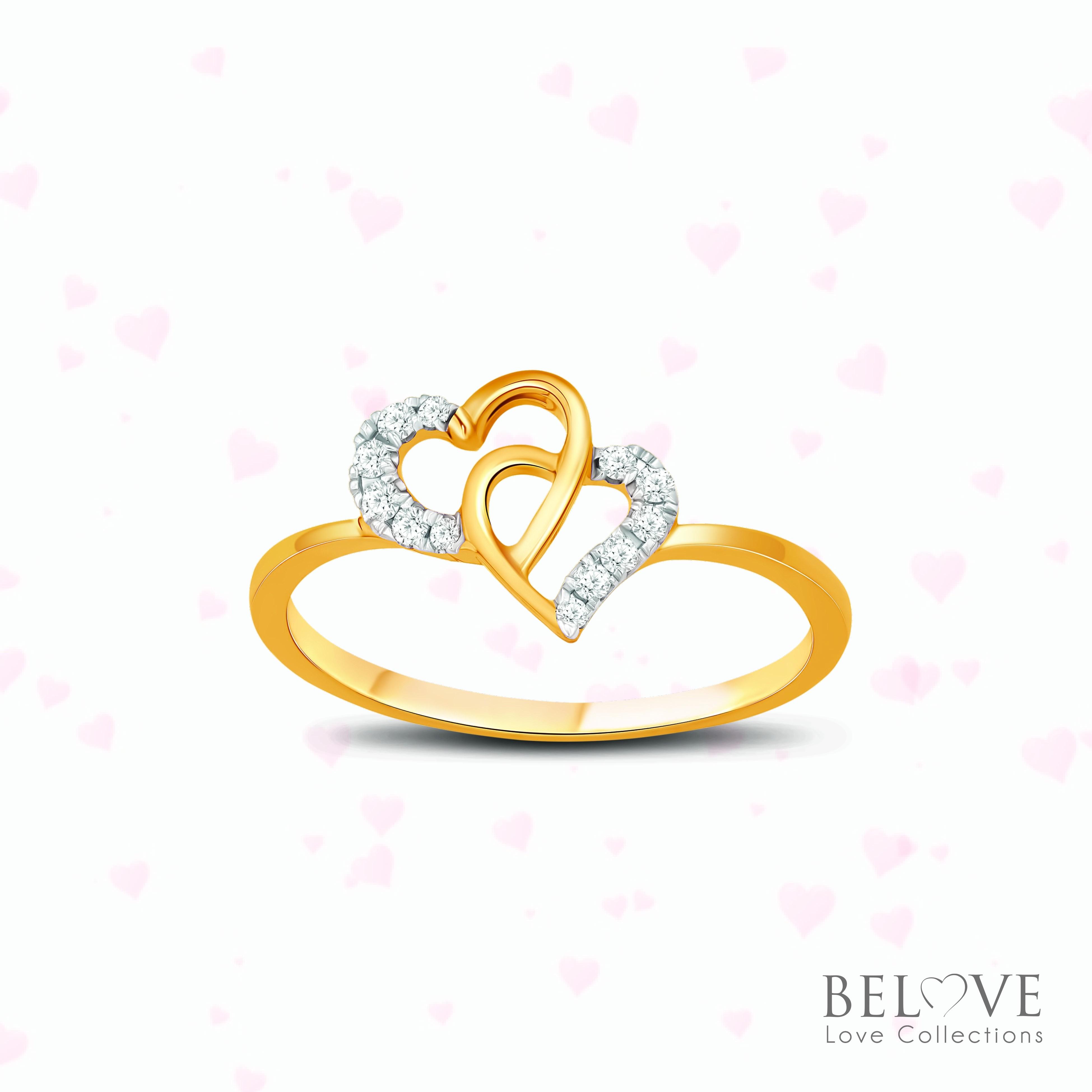 18K YELLOW GOLD DVS2018R-VL21 DIAMOND RING