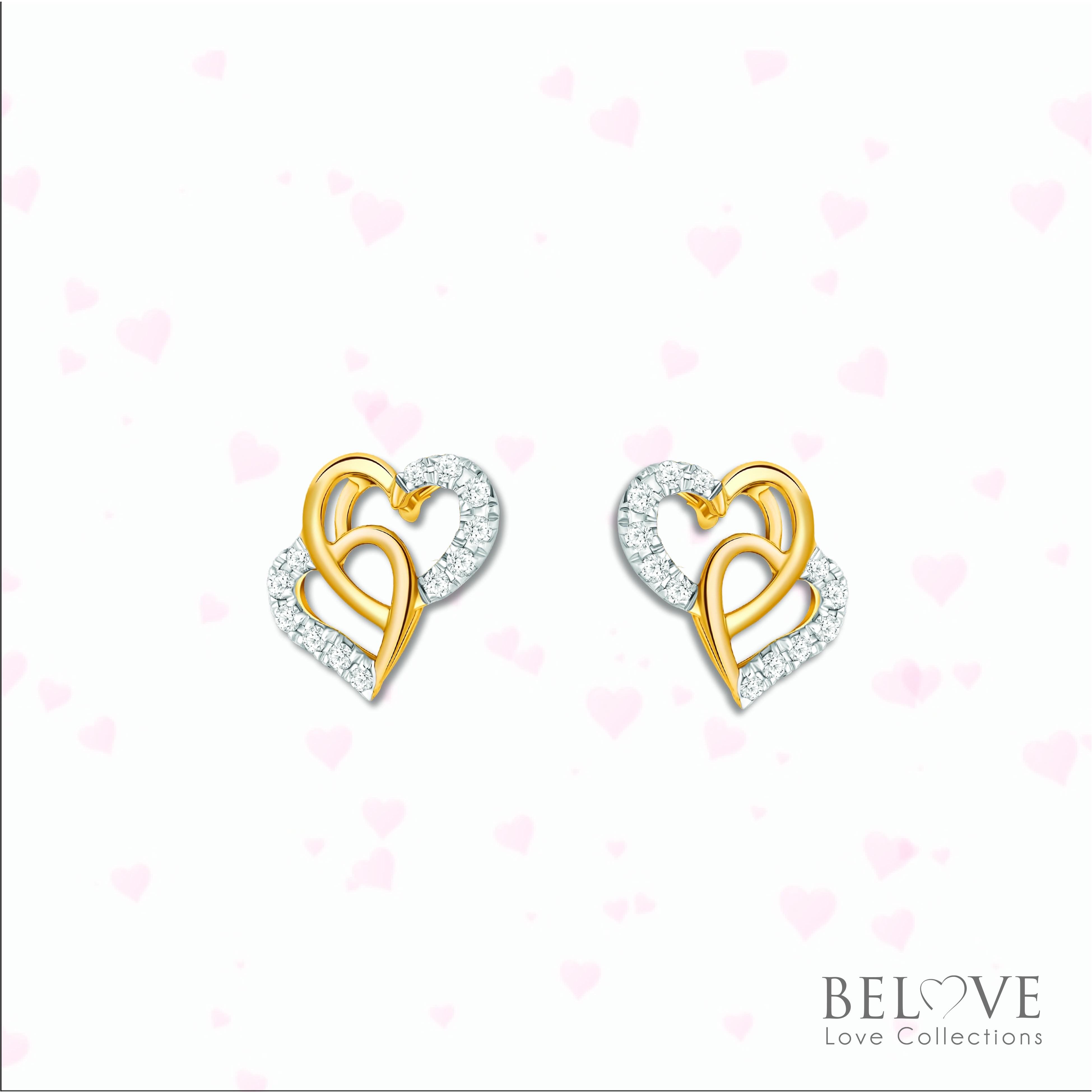 18K YELLOW GOLD DVS2018E-VL21  DIAMOND EARRING