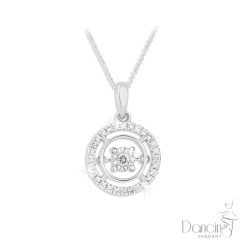 18Kt White Dancing Diamond Pendant *NEW* 2018