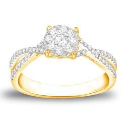 CARISTO  DR530Y DIAMOND LADYS RING
