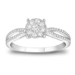 CARISTO  DR647W DIAMOND LADYS RING