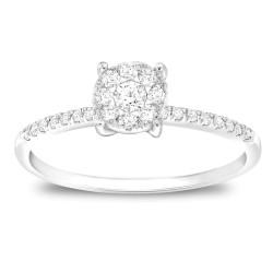 CARISTO  DR838W DIAMOND LADYS RING