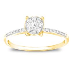 CARISTO  DR838Y DIAMOND LADYS RING