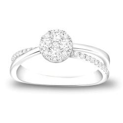 CARISTO  DR983W DIAMOND LADYS RING