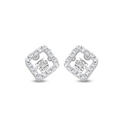 18K WHITE GOLD HEART BEATS EARRING KNG111WE