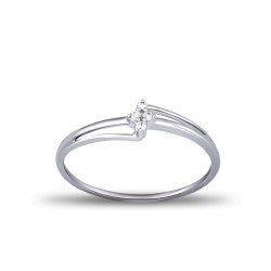 EVERYDAY DIAMONDS ED31 LADYS 18K WHITE GOLD RING