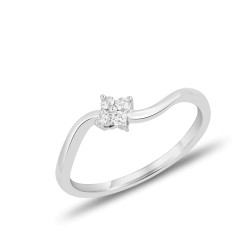 EVERYDAY DIAMONDS ED40 LADYS 18K WHITE GOLD RING