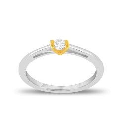 EVERYDAY DIAMONDS ED41 LADYS 18K TWO TONE GOLD RING