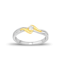 EVERYDAY DIAMONDS ED43 LADYS 18K TWO TONE GOLD RING