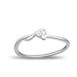 EVERYDAY DIAMONDS ED49 LADYS 18K WHITE GOLD RING