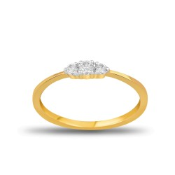 EVERYDAY DIAMONDS ED51 LADYS 18K YELLOW GOLD RING
