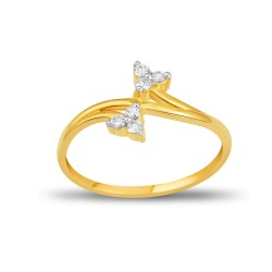 EVERYDAY DIAMONDS ED55 LADYS 18K YELLOW GOLD RING