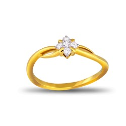 EVERYDAY DIAMONDS ED58 LADYS 18K YELLOW GOLD RING