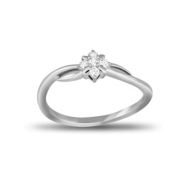 EVERYDAY DIAMONDS ED58 LADYS 18K WHITE GOLD RING