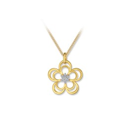 BELOVE 18K YELLOW GOLD PENDANT PETALZ