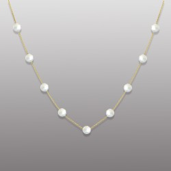 18K YELLOW GOLD PEARL NECKLACE -RD1904N