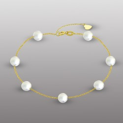 18K YELLOW GOLD BRACELET WITH PEARL-RD1906BR