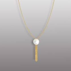 18K YELLOW GOLD PENDANT WITH PEARL-RD1907P