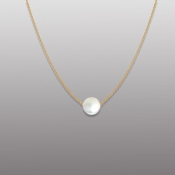18K YELLOW GOLD PENDANT WITH PEARL-RD1911P