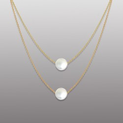 18K YELLOW GOLD PEARL PENDANT WITH CHAIN-RD1912P