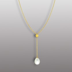 18K YELLOW GOLD PENDANT WITH DROP SHAPE PEARL-RD1913P