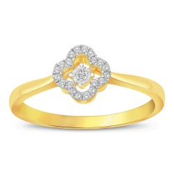18K YELLOW GOLD HEART BEATS RING KNG103YR