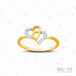 18K YELLOW GOLD DVS2018R-VL21 DIAMOND RING