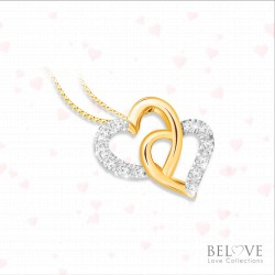18K YELLOW GOLD DVS2018P-VL21 DIAMOND PENDANT WITH CHAIN