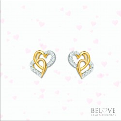 18K YELLOW GOLD DVS2018E-VL21  DIAMOND EARRING