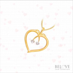 18K YELLOW GOLD DP0084-VL21 DIAMOND PENDANT WITH CHAIN
