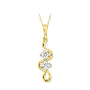 EVERYDAY DIAMONDS ED1004 LADYS 18K YELLOW GOLD PENDANT