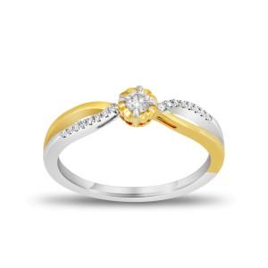 EVERYDAY DIAMONDS ED48 LADYS 18K TWO TONE GOLD RING