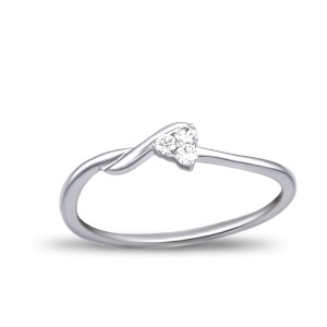 EVERYDAY DIAMONDS ED49 LADYS 18K WHITE GOLD RING