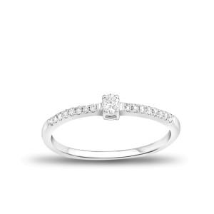 EVERYDAY DIAMONDS ED53 LADYS 18K WHITE GOLD RING